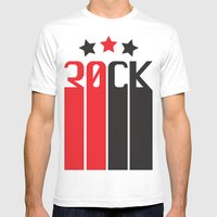 30CK - ROCK Mens Fitted Tee MEDIUM White