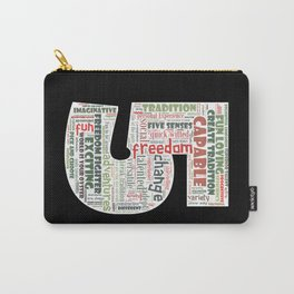 Life Path 5 (black background) Carry-All Pouch