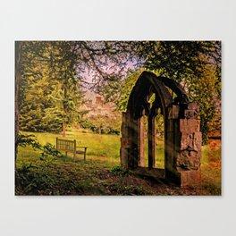 Manor house landscape. Canvas Print