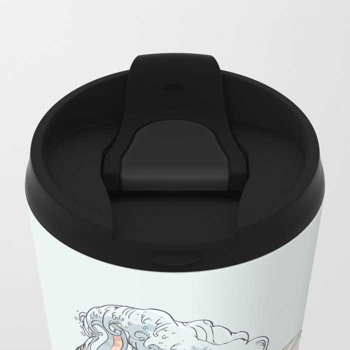 BREATHE DEEPLY Metal Travel Mug