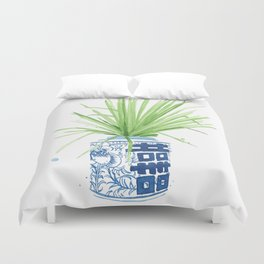 Ginger Jar + Fan Palm Duvet Cover