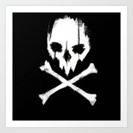 DedMan Skull Art Print