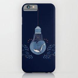 Lighten whale navy iPhone Case