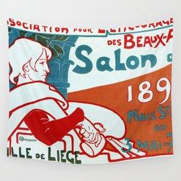 Liège 1896 Art salon Wall Tapestry