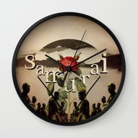 samurai Wall Clocks featuring samurai by Rosa Picnic