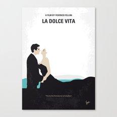No529 My La dolce vita minimal movie poster Canvas Print