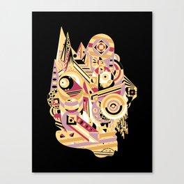 EL BARTO ~ BLACK Canvas Print