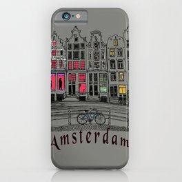 Amsterdam red light district iPhone Case
