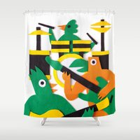 band Shower Curtains featuring The Band by Jacopo Rosati