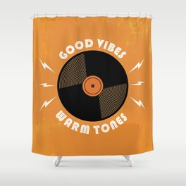 Good Vibes and Warm Tones Shower Curtain