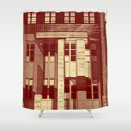 City Life Reflection Shower Curtain