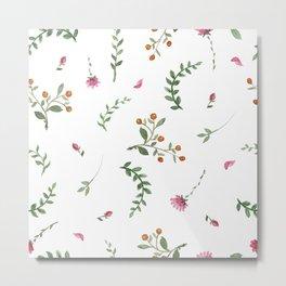 flowers watercolor of floral rose seamless pattern Metal Print