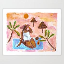 Where the sands are peachy Art Print