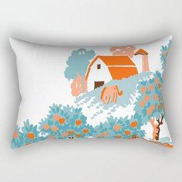 Farm Animals in Chairs #4 Chicken Rectangular Pillow