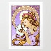 Nouveau Blonde Art Print