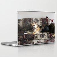 german shepherd Laptop & iPad Skins featuring Tara the Diva German Shepherd by Klacey's Photography