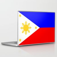 philippines Laptop & iPad Skins featuring Philippines country flag by tony tudor