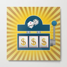 Slot Machine Metal Print