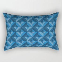 Pattern: Blue square Rectangular Pillow