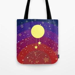 Moon (sun) with stars Tote Bag