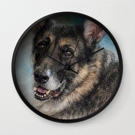 Portrait of a Shepherd - German Shepherd Wall Clock