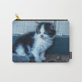 Black + White Kitten Carry-All Pouch
