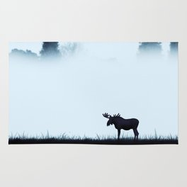 The moose - minimalist landscape Rug