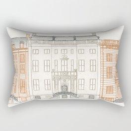 Amsterdam canal Houses on the Herengracht 442 446 and 448 by Johan Teyler (1648 -1709) Rectangular Pillow