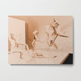 Retrò Contemporary Mannequin  Metal Print