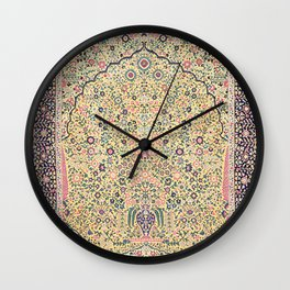 Douglass Mughal 'Millefleurs' North Indian Rug Print Wall Clock