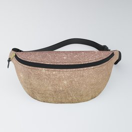 Pink Rose Gold Glitter and Gold Foil Mesh Fanny Pack
