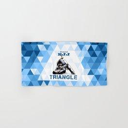 Blue Bjj Triangle choke. Jiu-jitsu grappling Hand & Bath Towel