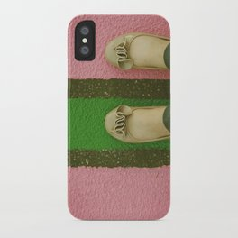 vintage pink & green iPhone Case