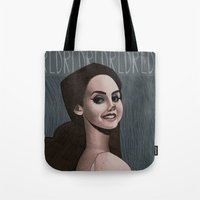 ultraviolence Tote Bags featuring LDR  by MYLÈNE BRAGINA