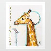 Giraffe Wilson Art Print