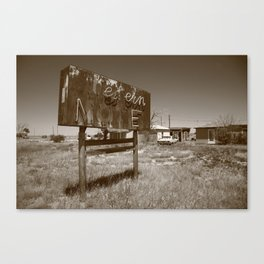 Route 66 - Western Motel 2012 Canvas Print