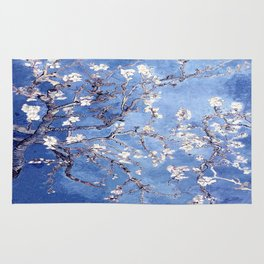 Vincent Van Gogh Almond BlossomS Blue Rug