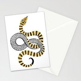 Gold Snake Stationery Cards