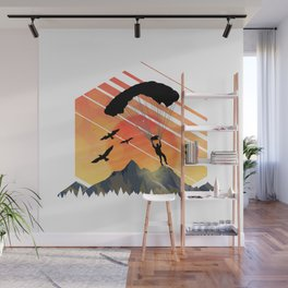 Vintage TEE Sun Sunset Clothing Parachute Wall Mural