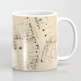 Vintage Map of White Plains NY (1867) Coffee Mug
