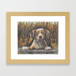 Puppy Dog Love Framed Art Print