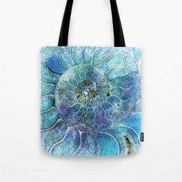 Aqua seashell - mother of pearl - Beautiful backdrop Tote Bag