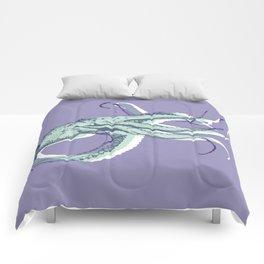 Hand Drawn Nautical Octopus Print Comforters