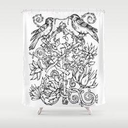 Runes & Ravens Shower Curtain