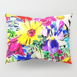 Circle of flowers Pillow Sham