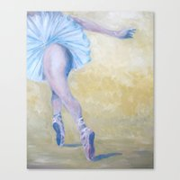 degas Canvas Prints featuring Inspired by Degas - Ballerina in Flight by Sebastian Alappat