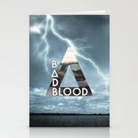 bastille Stationery Cards featuring Bastille - Bad Blood by Thafrayer