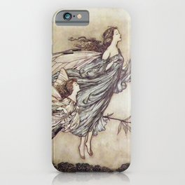 """Fairies Tiff with the Birds"" by Arthur Rackham iPhone Case"