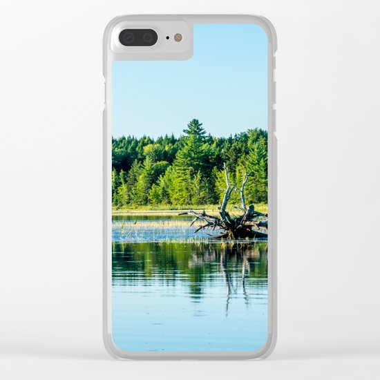 Driftwood Reflection Clear iPhone Case