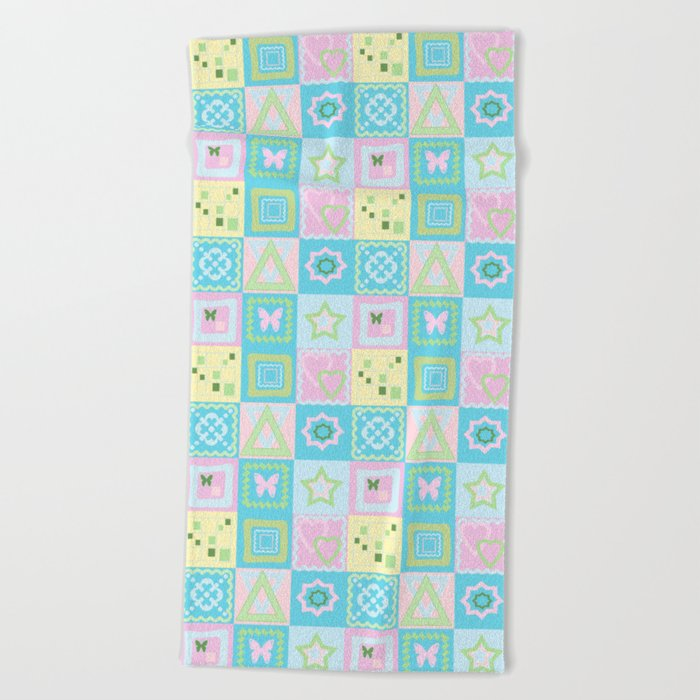 Delicate shades of baby pattern. Beach Towel